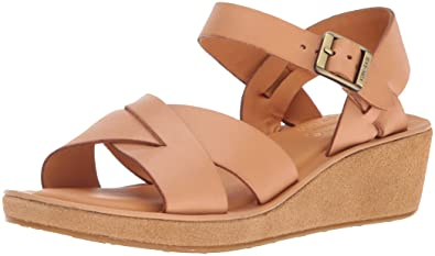 aa78b6d8d7 Amazon.com | KORK-EASE Women's Myrna Buff on Suede Wedge Sandal ...