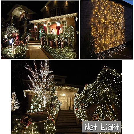 He-shop Net Light LED Interior al Aire Libre Restaurante de Navidad Jardín Música Festival Bar Decoración Cálido Blanco/Blanco/Colorido Secuencia de luz 6 * 4,8 * 10: Amazon.es: Hogar