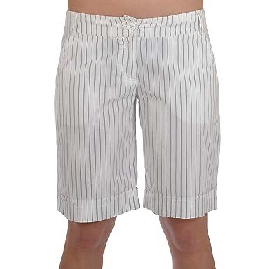 Miss posh short pour femme avec bouton   enveloppe à fines rayures-blanc ad15ad14705