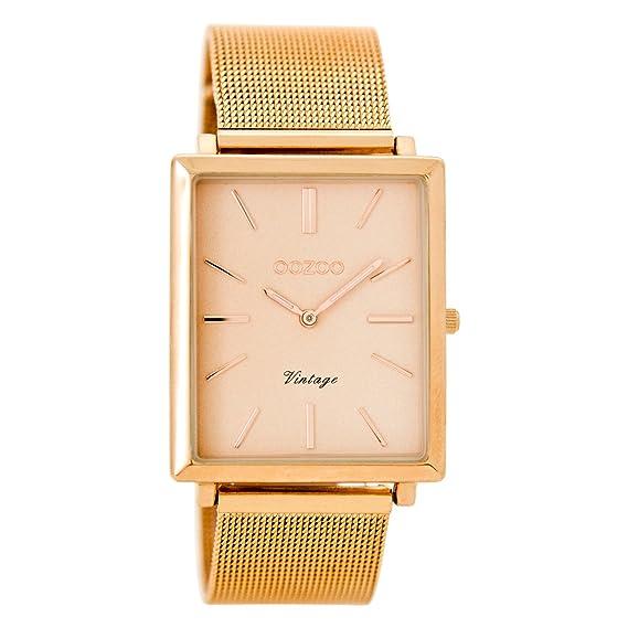 OOZOO Vintage Rose goud Horloge C8184 (37 mm)  Amazon.co.uk  Clothing e8c3b4c35a8