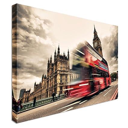 Autobús de Londres Zoom abstracto lienzo barato diseño de casa ...