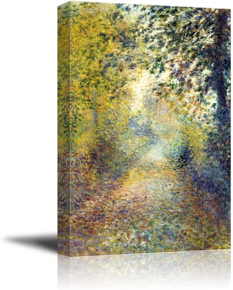 """wall26 - in The Woods by Pierre-Auguste Renoir - Canvas Print Wall Art Famous Painting Reproduction - 16"""" x 24"""""""