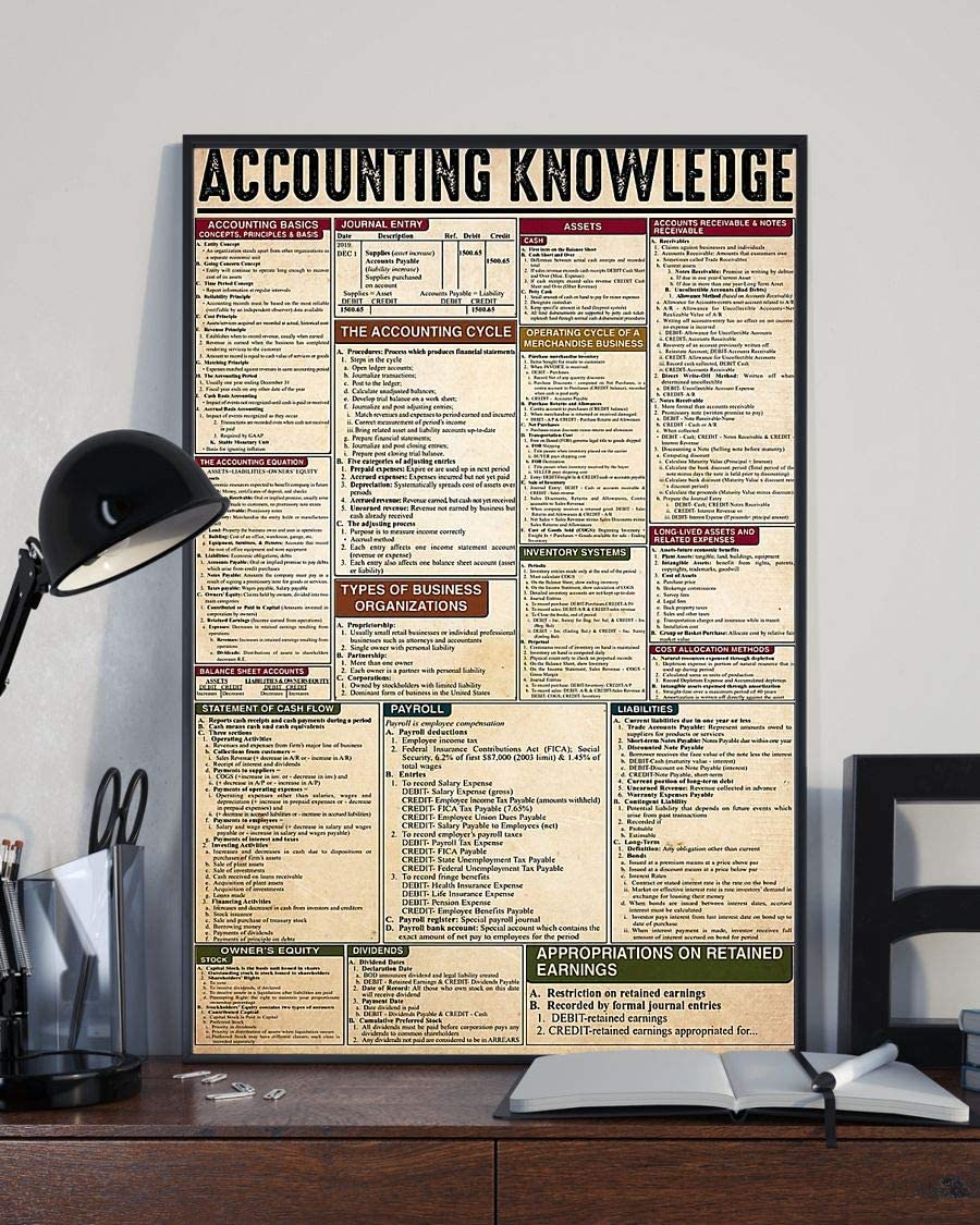 HolyShirts Accounting Knowledge Poster (24 inches x 36 inches)