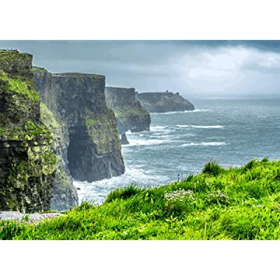Cliffs of Moher, Ireland-1000 Pieces of Adult DIY Wooden Toy Puzzles Thickened Children Educational Toys Can Be Decorated: Toys & Games