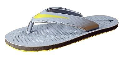 quality design 62fa1 baa29 Nike Men's Grey Yellow Chroma Thong 5 Slippesrs
