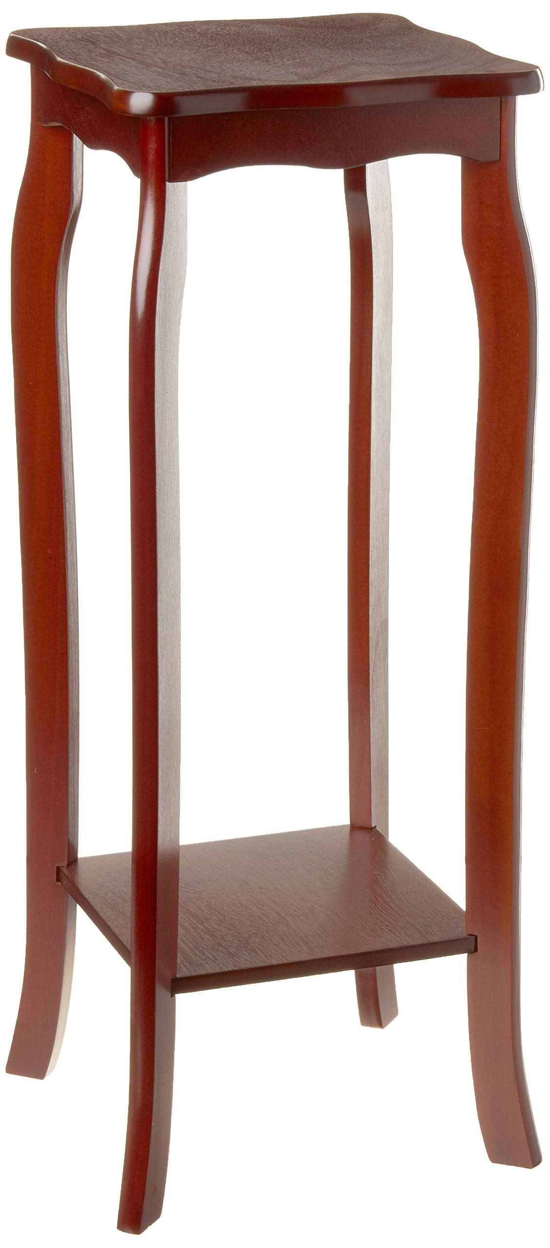 Frenchi Home Furnishing 2 Tier Plant Stand, Mahogany by Frenchi Home Furnishing