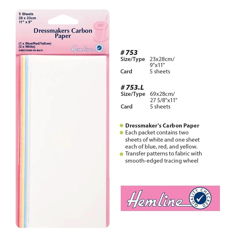 Hemline 5 x 69 x 28cm Dressmakers Carbon Paper Large Tracing Transfer