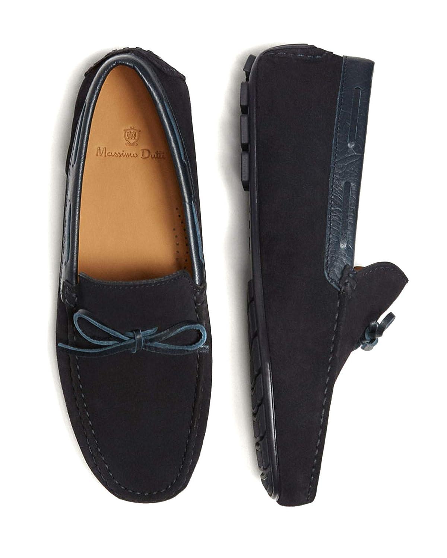 Massimo Dutti - Mocasines de Cuero para Hombre Azul Azul, Color Azul, Talla 44 EU: Amazon.es: Zapatos y complementos