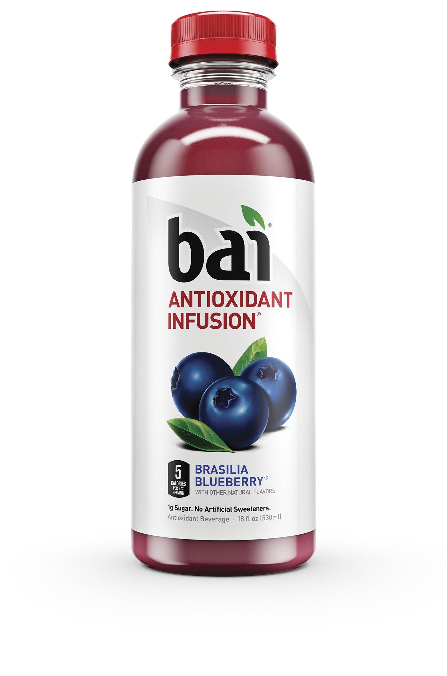 Bai Brasilia Blueberry, Antioxidant Infused Beverage, 18 Fluid Ounce Bottles, 12 count