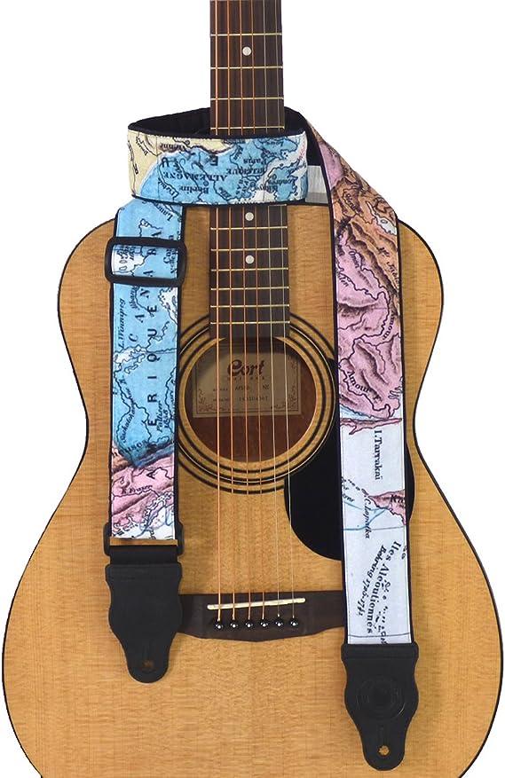 Black AZMUSIC Premium Classic Guitar Strap