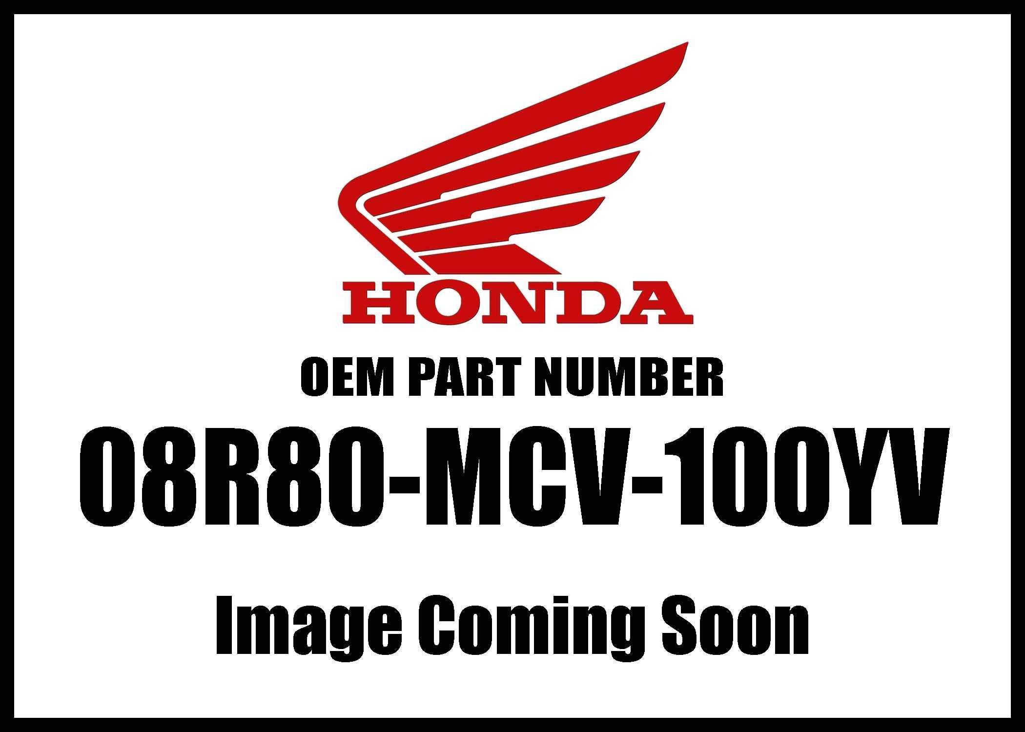 Honda Po# 721J Screw 6X19 Sub Ki 08R80-Mcv-100Yv New Oem