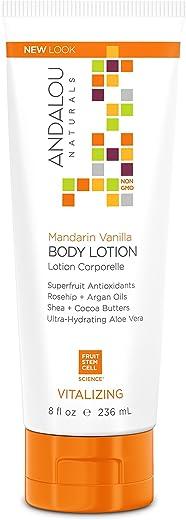 Andalou Naturals Mandarin Vanilla Vitalizing Body Lotion, 8 Ounce