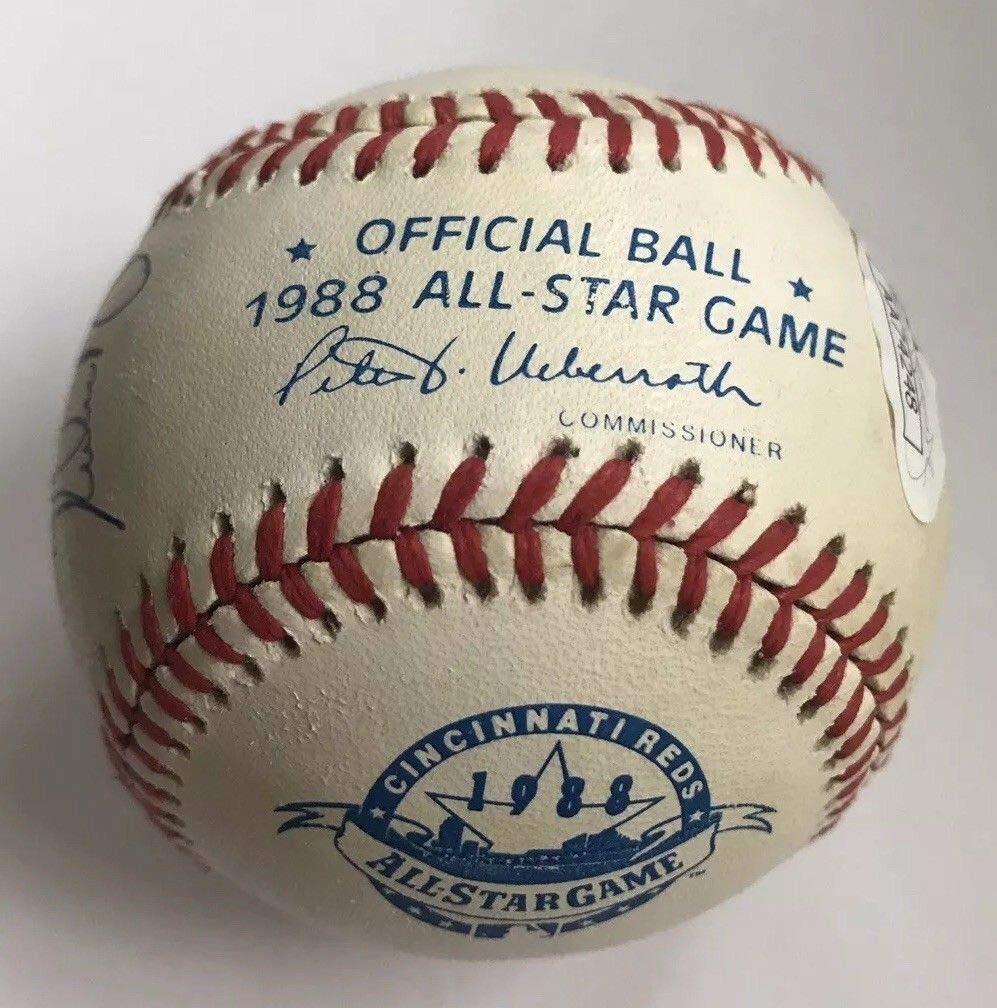 "NOLAN RYAN & BOBBY VALENTINE DUAL AUTO AUTOGRAPH SIGNED 1988 ALL STAR GAME BASEBALL TEXAS RANGERS""MY RANGERS MANAGER"" COA JSA HOF"
