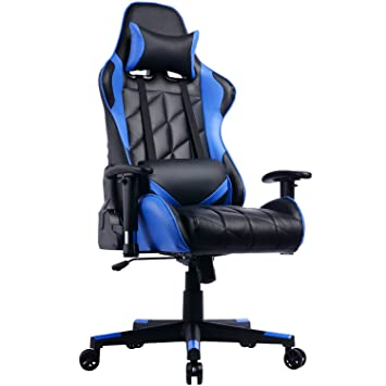Prime Selection Products Silla de Oficina Gaming; Asiento Gamer con Alto Respaldo Reclinable Racing: Amazon.es: Hogar