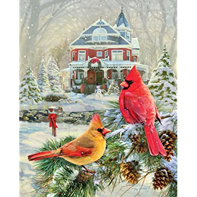 Springbok 1000 Piece Jigsaw Puzzle Cardinal Holiday Retreat: Toys & Games