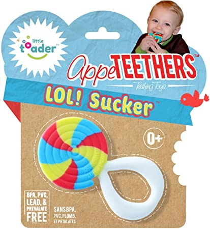 Amazon.com   Little Toader Teething Toys - Soft Silicone Fun Dessert Shaped  BPA Free Teethers (Lollipop)   Baby 052b6fa2a