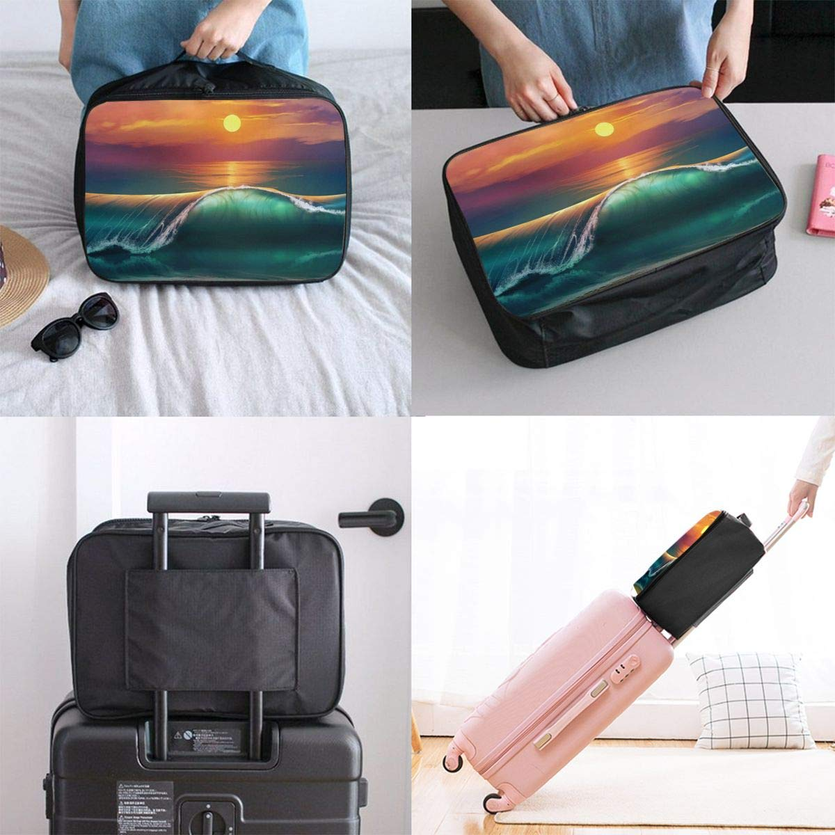 Travel Luggage Duffle Bag Lightweight Portable Handbag Surfing Beach Large Capacity Waterproof Foldable Storage Tote