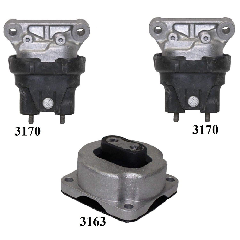 8USAUTO 3 PCS Front Motor /& Trans Mount FIT 2005-2010 Chrysler 300 2.7L /& 3.5L 2WD