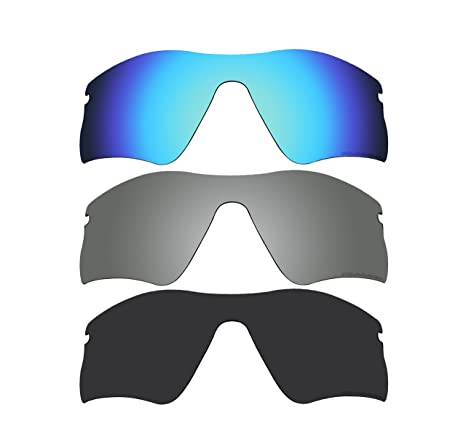 ec8fdd3dcba Image Unavailable. Image not available for. Color  BVANQ 3 Pairs Polarized  Replacement Lenses for Oakley Radar Range Sunglasses Black ...