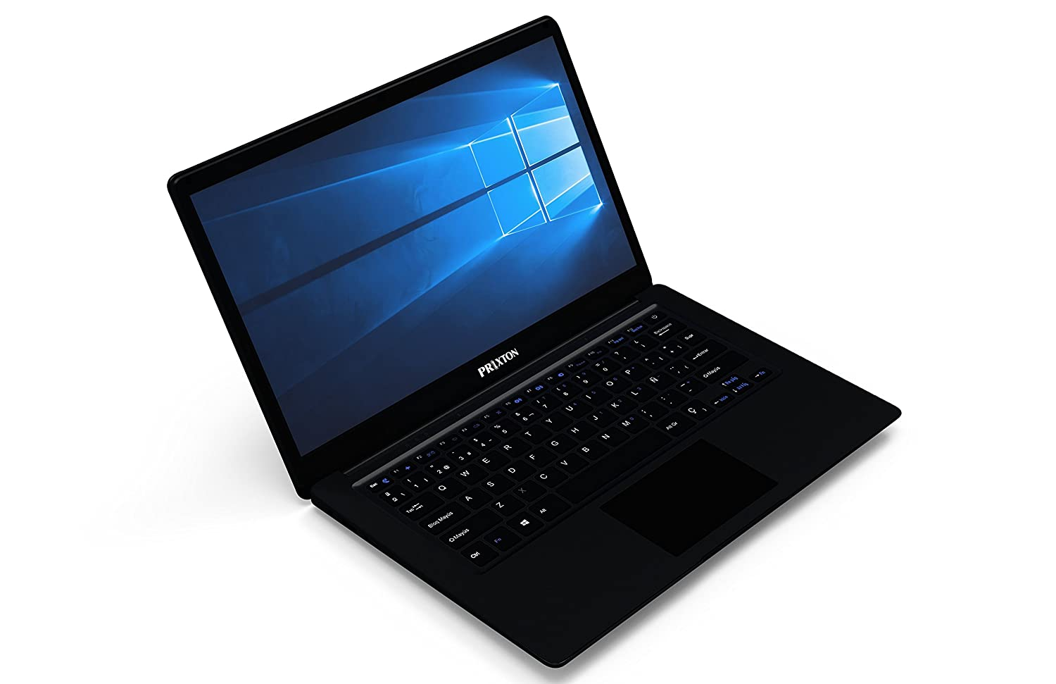 PRIXTON Ordinateur portable 14.1' PC14 Ultrabook (Intel Atom Z8350, 2 Go de RAM, 32 Go eMMC, Windows 10) couleur Noir - Clavier QWERTY (ñ ) Windows 10) couleur Noir - Clavier QWERTY (ñ)