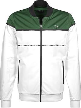 af45213f85 Lacoste Sport Tennis veste de survêtement blanc/vert-noir: Amazon.fr ...