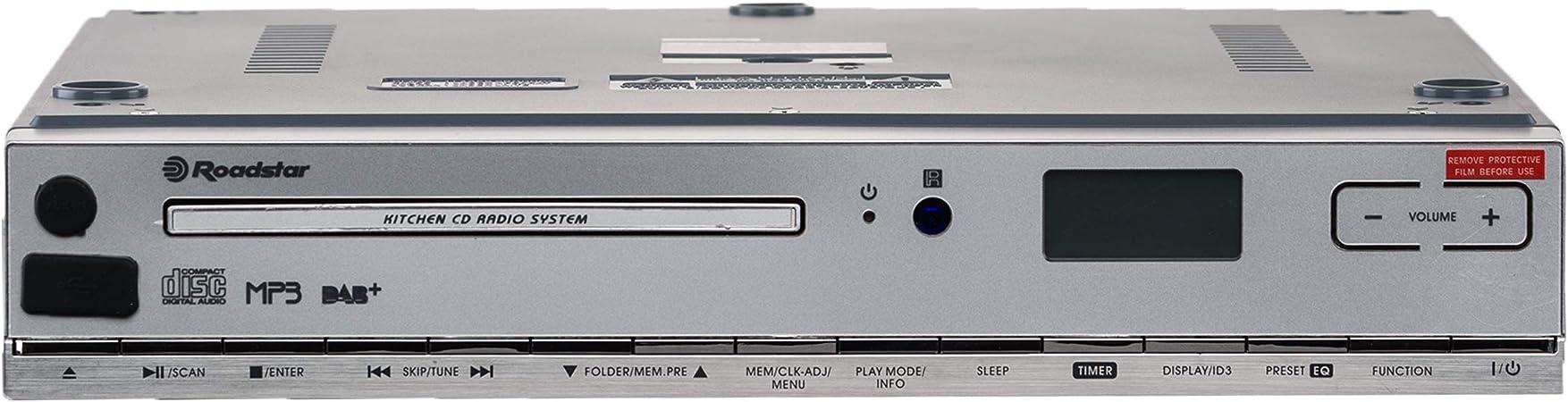 Roadstar Clr 2950 Dab Küchen Unterbauradio Mit Cd Cd Spieler Mp3 Usb Aux Dab Fernbedienung Montage Kit Weiß Heimkino Tv Video