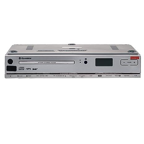 Roadstar CLR-2950 DAB + Küchen-Unterbauradio mit CD (CD-Spieler, MP3, USB, AUX, DAB+, Fernbedienung, Montage-Kit), weiß