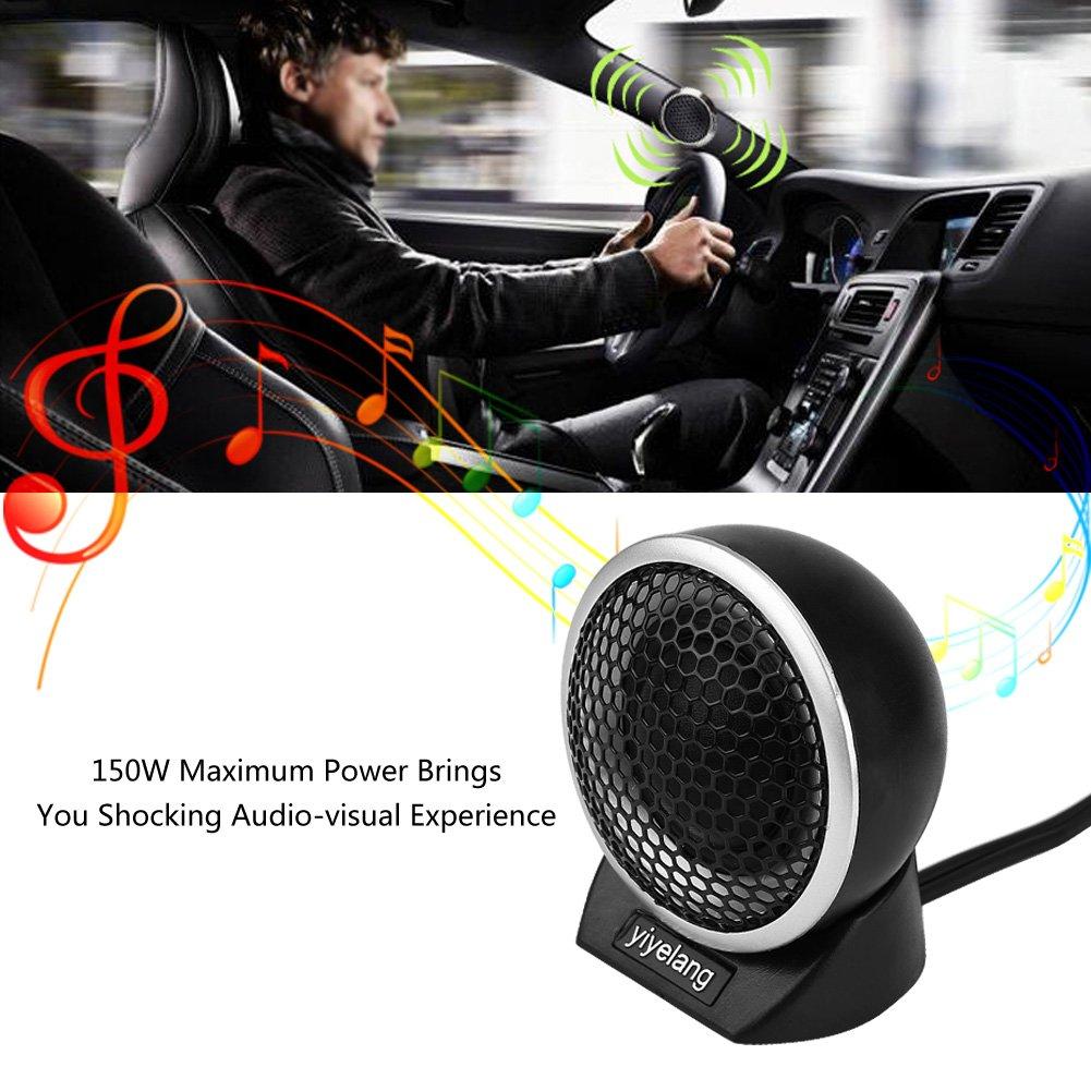 Yh-88d Kimiss 2/pcs 5,1/cm 150/W 4,2/cm de voiture Tweeter st/ér/éo de haut-parleurs d/ôme Audio Haut-parleur /électrique haute Pitch Horn