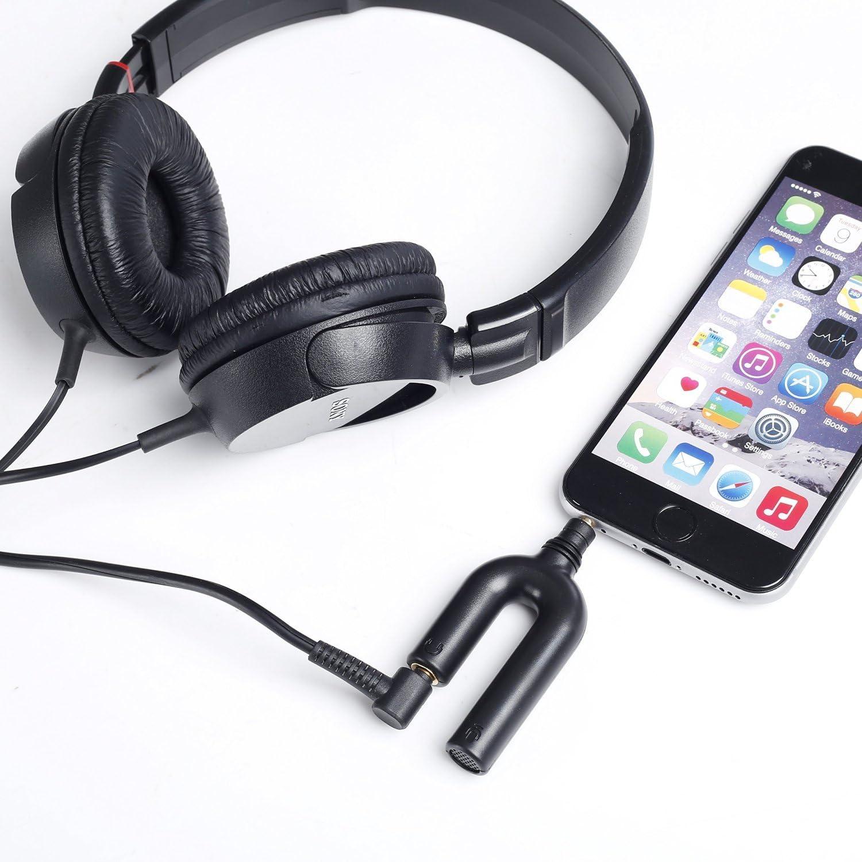 Oro Rosado iPod Touch y iPad de Apple Movo Micr/ófono de Condensador Calibrado Omnidireccional con Conector TRRS MA200 para iPhone