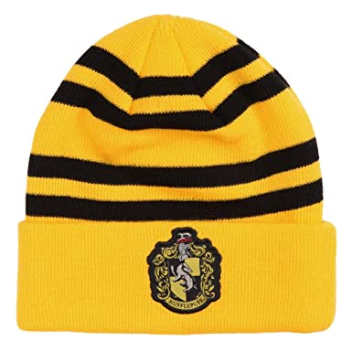 c391d0b4890c9 Image Unavailable. Image not available for. Color  HARRY POTTER Hufflepuff  Crest Beanie