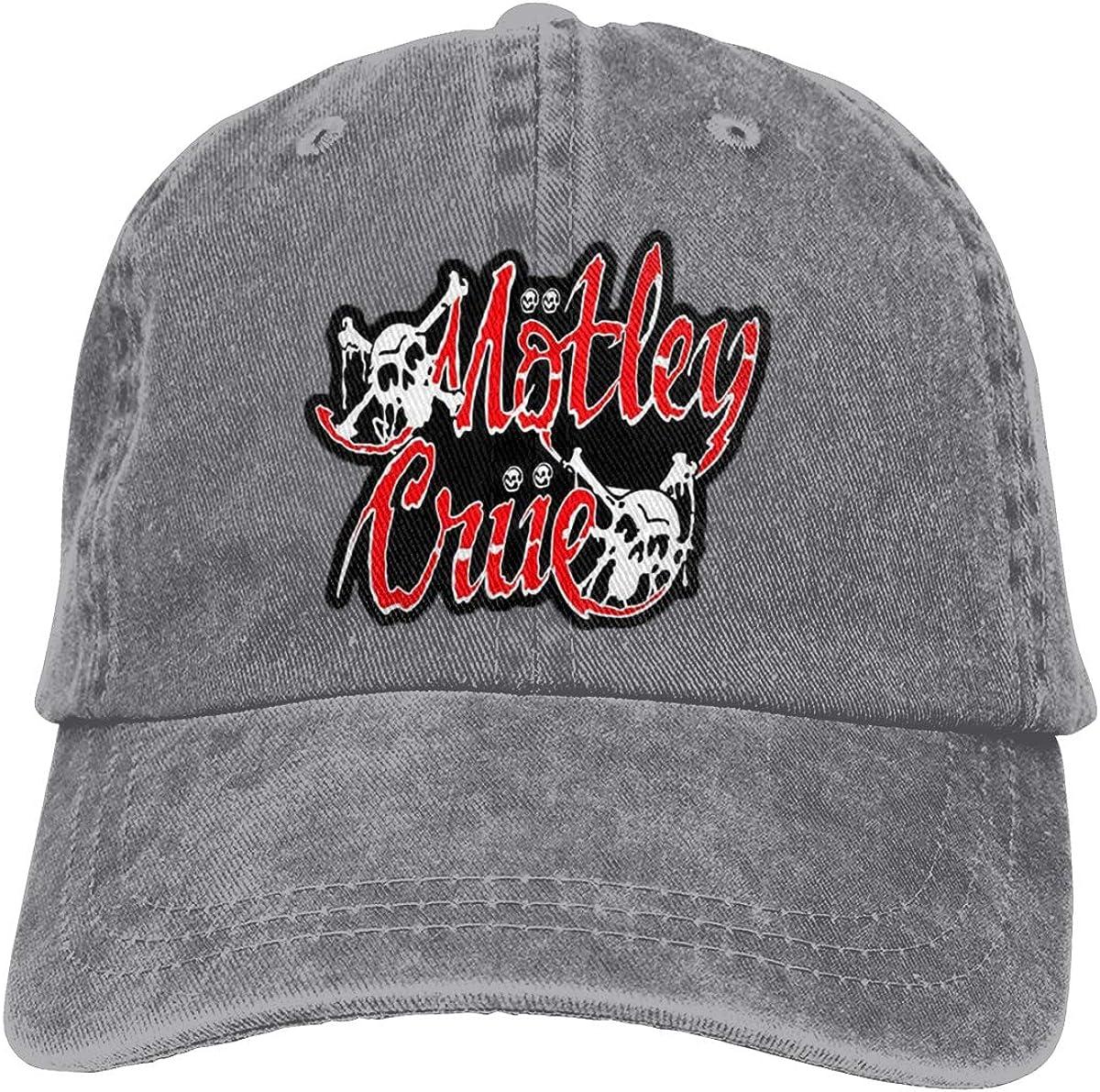 Zlizhi Motley-Crue Men Women Plain Cotton Adjustable Washed Twill Low Profile Baseball Cap Hat