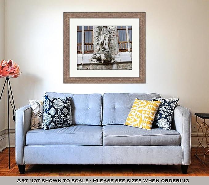 Amazon.com: Ashley Framed Prints Botines Palace in Leon Castilla Y Leon, Wall Art Home Decoration, Color, 26x30 (Frame Size), Rustic Barn Wood Frame, ...