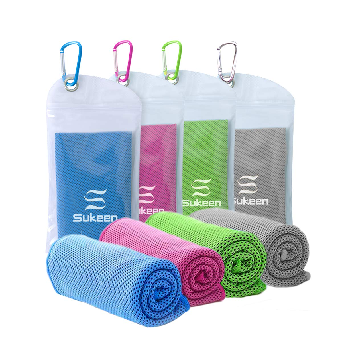 "[4 Pack] Cooling Towel (40""x12""), Ice Towel, Soft Breathable Chilly Towel"
