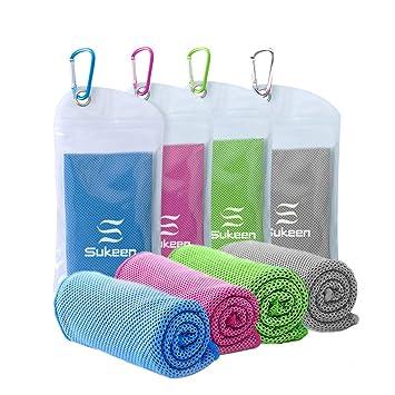 atmungsaktives Chilly Handtuch f/ür Yoga weiches Training Camping Training /& mehr Mikrofaser Handtuch Sport 100 x 30cm Laufen U-pick K/ühlung Handtuch Fitnessstudio Ice Handtuch