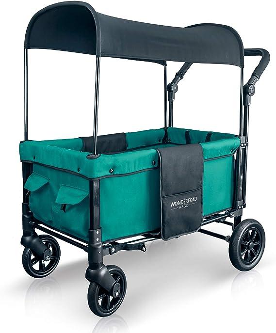 WONDERFOLD W1 Multi-Function 2 Passenger Push Folding Stroller Wagon