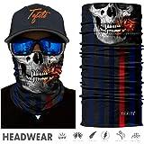 TEFITI Stretchable Face Scarf Guards Balaclava Headwear for Camping,Running,Cycling,Biking,Motorcycling,Fishing,Hunting…