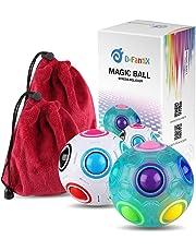 D-FantiX Magic Rainbow Ball Cube Bundle Stress Reliever Fidget Ball Puzzle Fidget Toys Set of 2