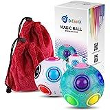 D-FantiX Rainbow Puzzle Ball Cube Magic Rainbow Ball Puzzle Bundle Stress Fidget Ball Brain Teasers Games Fidget Toys for Kid