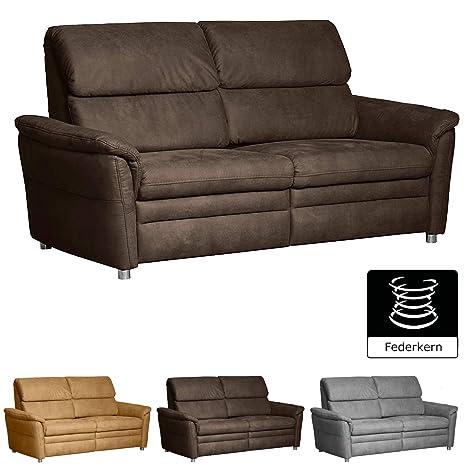 Cavadore 3 Sitzer Chalsay Mit Federkern Federkern Couch Im Modernen Design Größe 179 X 94 X 92 Cm Bxhxt Farbe Braun Chocco