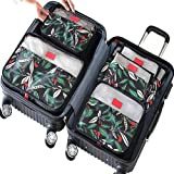 アレンジケース  旅行収納ポーチ7点セット衣類 整理整頓 小物入れ 旅行 トラベルポーチ 海外旅行 便利グッズ 軽量 防水 大容量 スーツケースベルト付き (花の夜は)