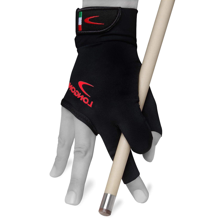 Longoni ブラックファイヤー2.0 ビリヤードプールキューグローブ 左手または右手用 ブラック B07HMDR9SX Large|Right  Large