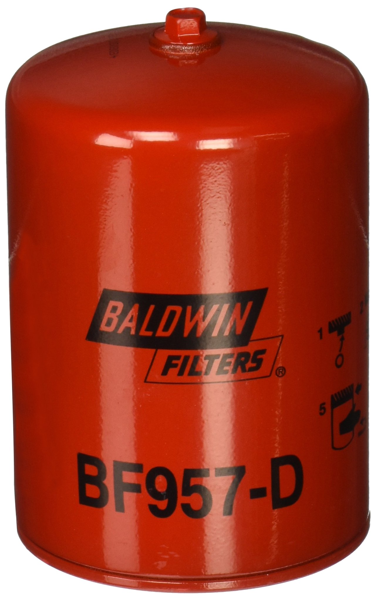 Baldwin Heavy Duty BF957-D Fuel Filter,5-7/16 x 3-11/16 x 5-7/16 In