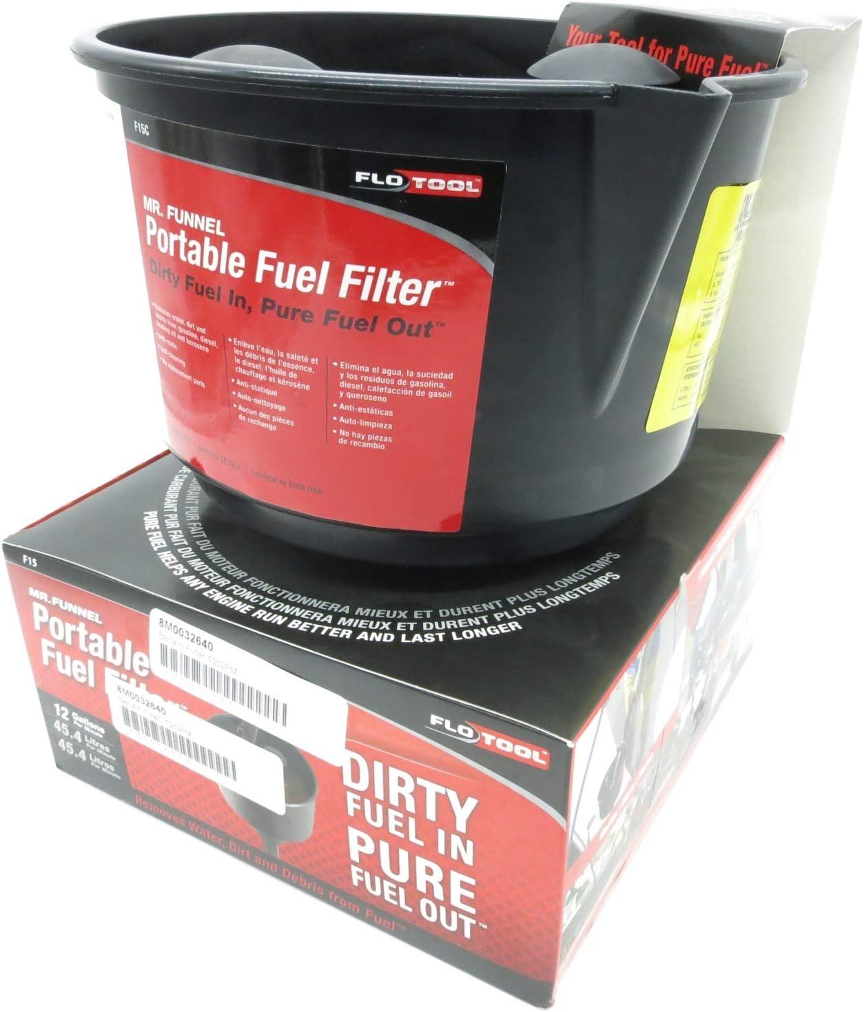 Hopkins Manufacturing Corporation Mr Funnel Portabler Kraftstofffilter Trichter orange gelb F8 F15 Fuel Filter