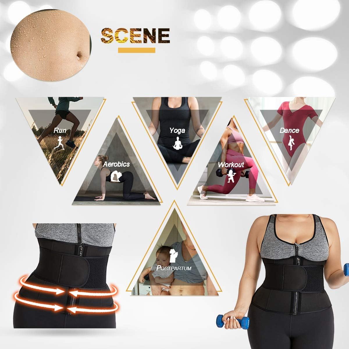 lttcbro Waist Trainer Belt Plus Size Tummy Slimming Sport Girdle Belt for Weight Loss Sauna Waist Cincher