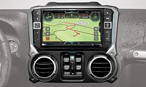 Alpine Electronics X209-WRA-OR 9 Restyle Navigation System with Off-Road Mode Apple CarPlay Android Auto for The Jeep Wrangler 2011-2018