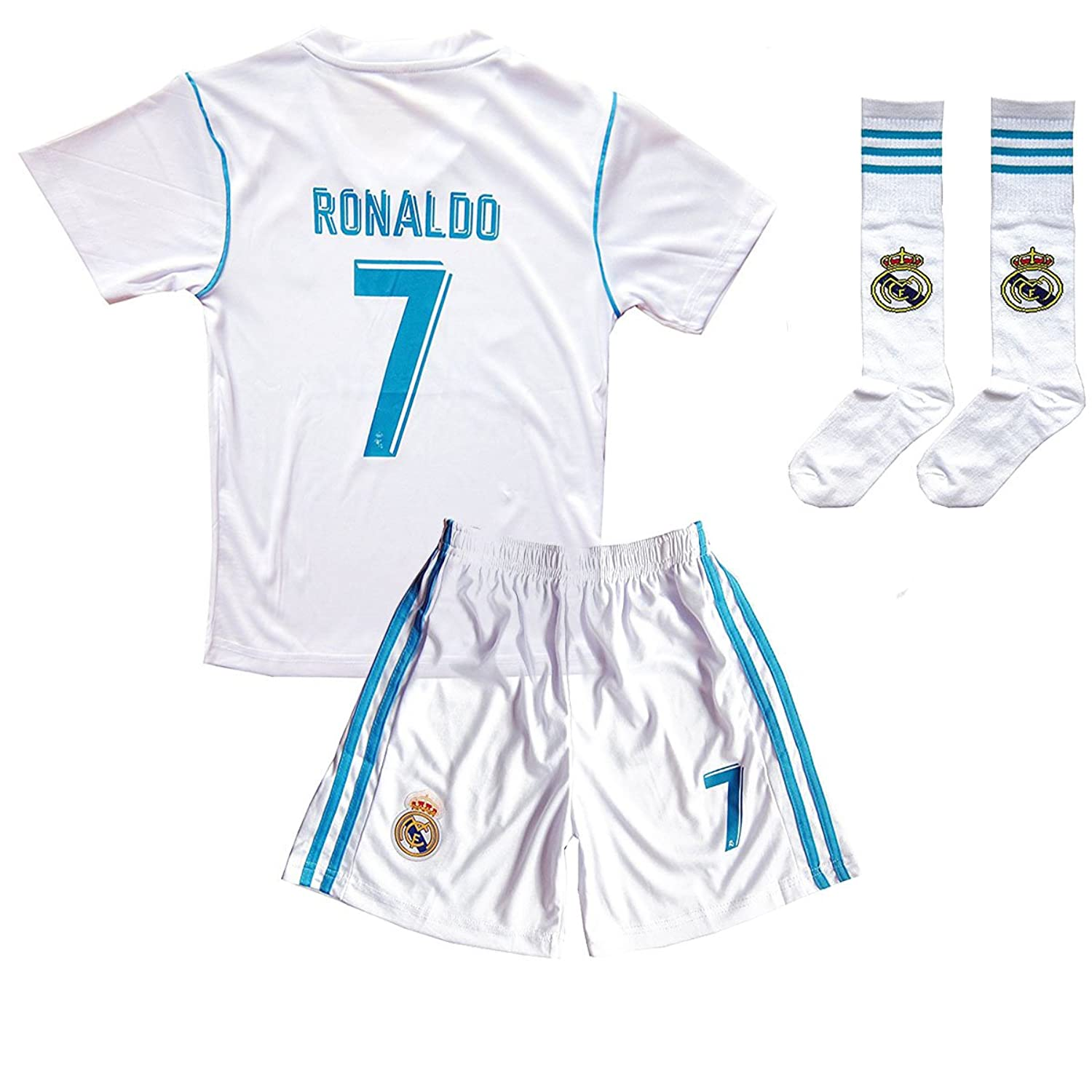 meet fd63c e2bf2 Xpbowy Youth Real Madrid #7 Ronaldo Jerseys Kids Home Soccer ...