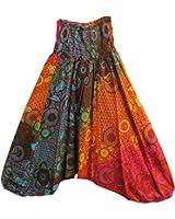 Indian Alibaba Boho Jumpsuit Romper Gypsy Floral Harem Pants Multicolor #3
