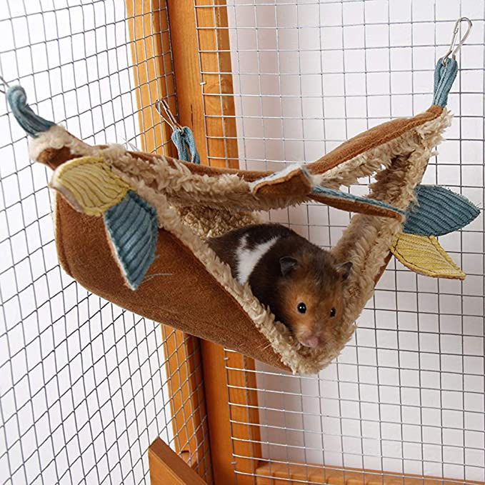 Tutuba Hamster Hammock for Cage,House Hanging Bed Cage Toys for Mice Rats Chinchilla