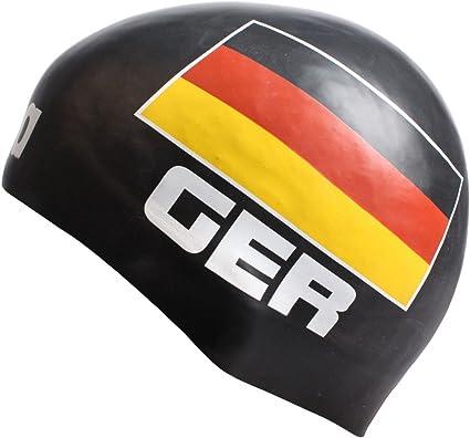 Arena 3D gorro de natación de silicona - Alemania Negro negro ...