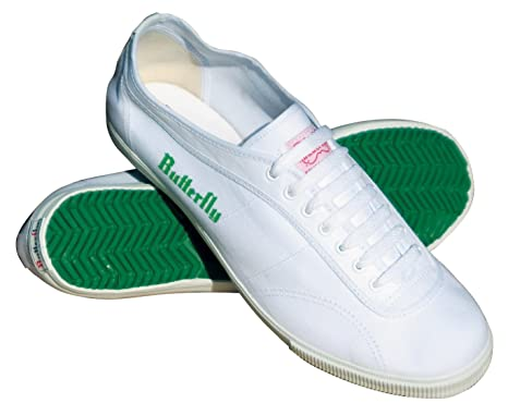 Amazon.com: Butterfly 8001 Classic Table Tennis Shoes (White, 4 1 ...